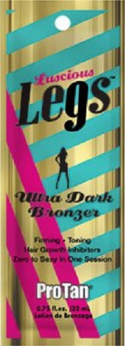 Pro Tan Luscious Legs Ultra Dark Bronzer Zero to Sexy in One Session Tanning Lotion Packet