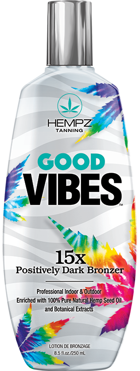 Hempz Good Vibes 15X Positively Dark Bronzer Tanning Lotion