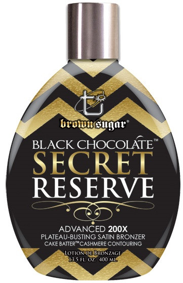 Brown Sugar Black Chocolate Secret Reserve Advanced 200X Plateau-Busting Satin Bronzer Tanning Lotion