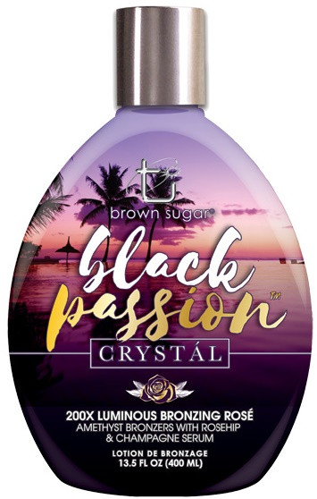 Brown Sugar Black Passion Crystal 200X Luminous Bronzing Rose' Tanning Lotion