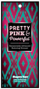 Supre Tan Pretty Pink & Powerful Dynamically Advanced Enduring Bronzer Tanning Lotion Sample Packet