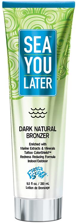 Fiesta Sun Sea You Later Dark Natural Bronzer Tanning Lotion