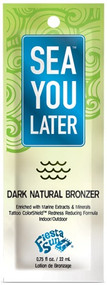 Fiesta Sun Sea You Later Dark Natural Bronzer Tanning Lotion Sample Packet