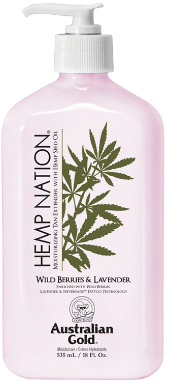 Australian Gold Hemp Nation Wild Berries & Lavender Moisturizing Tan Extender with Hemp Seed Oil