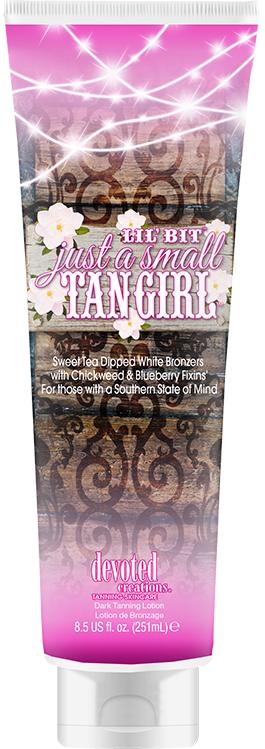 Devoted Creations Lil' Bit Just a Small Tan Girl Sweet Tea Dipped White Bronzer Tanning Lotion