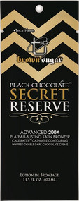 Tan Incorporated Black Chocolate Secret Reserve Plateau Busting Satin Bronzer Tanning Lotion Sample Packet