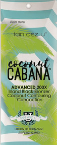 Tan Incorporated Coconut Cabana Advanced 200X Island Black Bronzer Tanning Lotion Sample Packet