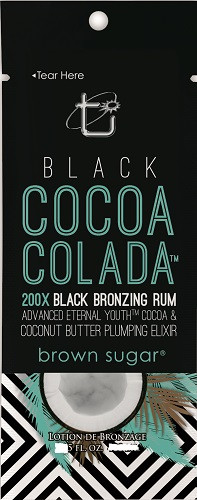 Tan Incorporated Black Cocoa Colada 200X Black Bronzing Rum Tanning Lotion Sample Packet