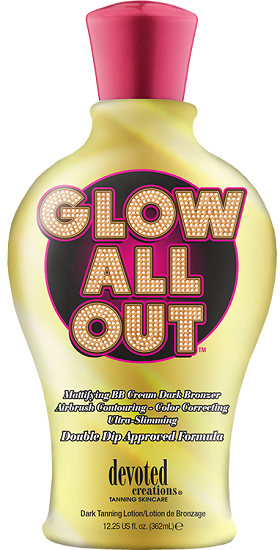 Devoted Creations Glow All Out Mattifying BB Cream Dark Bronzer Airbrush Contouring Tanning Lotion