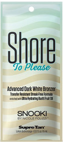 Supre Tan Snooki Shore to Please Advanced Dark White Bronzer Tanning Lotion Sample Packet