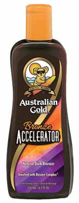Australian Gold Bronze Accelerator Natural Dark Bronzer enriched with Biosine Tanning Lotion