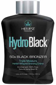Hempz Tanning HydroBlack 50X Black Bronzer Triple Moisture Herbal Whipped Bronzing Creme Tanning Lotion