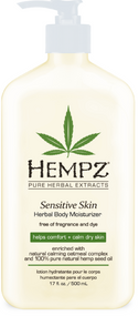 Hempz Sensitive Skin Free of Fragrance and Dye Herbal Body Moisturizer