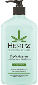 Hempz Triple Moisture Herbal Whipped Body Creme Moisturizer