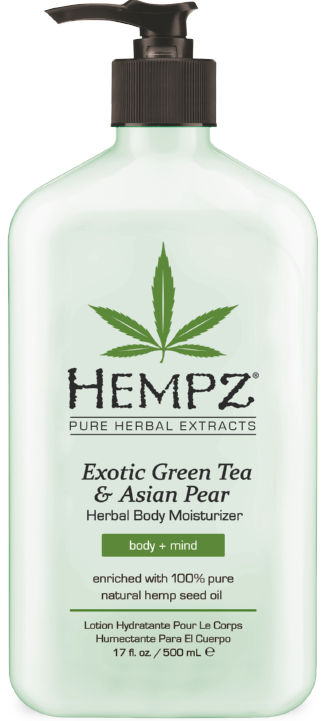 Hempz Exotic Green Tea & Asian Pear with Hemp Seed Oil Herbal Body Moisturizer