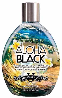 Tan Incorporated Tan Asz U Aloha Black Advanced 200X Black Bronzer Tanning Lotion