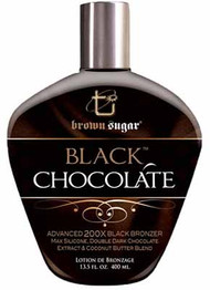 Brown Sugar Black Chocolate Advanced 200X Black Bronzer Max Silicone, Double Dark Chocolate Extract, and Cocoa Butter Blend Tanning Lotion
