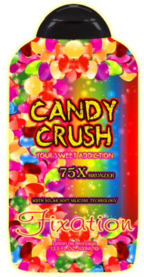 Ultimate Fixation Candy Crush 75X Bronzer with Solar Soft Silicone Technology Tanning Lotion