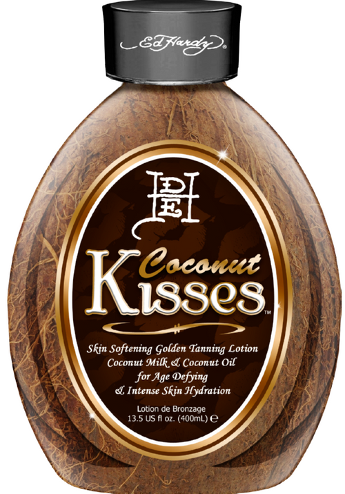 Ed Hardy Coconut Kisses Skin Softening Golden Lotion with Coconut Milk & Coconut Oil Tanning Lotion