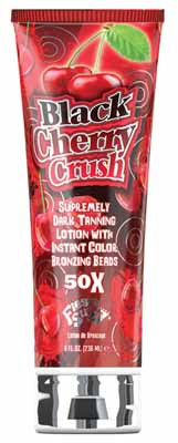 Fiesta Sun Black Cherry Crush Supremely Dark Tanning Lotion with Instant Color Bronzing Beads