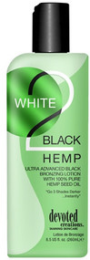Devoted Creations White 2 Black Hemp Ultra Advanced Black Bronzing with 100% Pure Hemp Seed Oil Tanning Lotion