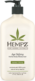 Hempz Age Defying Herbal Body Moisturizer with 100% Pure Natural Hemp Seed Oil