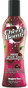 Supre Tan Cherry Bomb Hot Dark Tanning Accelerator with Skin Firming Cherry Extract Tanning Lotion
