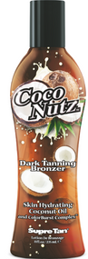Supre Tan Coco Nutz Dark Tanning Bronzer Skin Hydrating Coconut Oil with Colorburst Complex Tanning Lotion