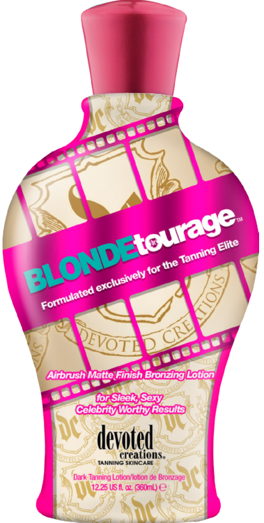 Devoted Creations Blondetourage Airbrush Matte Finish Bronzer for Sleek, Sexy Celebrity Worthy Results Tanning Lotion