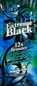 Supre Tan Extreme Black 12X Bronzer Tanning Lotion Packet