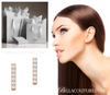 (NEW) BELLA COUTURE Gorgeous Fine Elegant Pave' Diamond Bar 14K Rose Gold Earrings (1/10 CT. TW.)