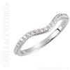 (NEW) BELLA COUTURE Prêt-à-Porter EXQUISITE 3 STONE DIAMOND 18KT WHITE GOLD ENGAGEMENT RING (Center Stone Included) (2 CT. TW.)