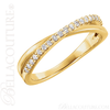 (NEW) BELLA COUTURE GENA Fine Gorgeous Diamond Criss Cross 14K Yellow Gold Ring (1/5 CT. TW.)