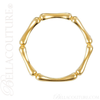 (NEW) BELLA COUTURE BAMBOO Fine Gorgeous Diamond 14K Yellow Gold Stackable Eternity Ring Band