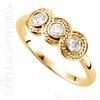(NEW) BELLA COUTURE Fine Elegant Three Stone Diamond 14K Yellow Gold Ring Band (1/3 CT. TW.)