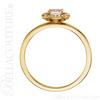 (NEW) BELLA COUTURE BALINA Fine Diamond Genuine Rose Morganite Oval Dainty Gemstone 14K Yellow Gold Ring
