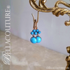 SOLD! - (ANTIQUE) Rare Gorgeous Victorian Paste Turquoise Rose Gold Wash Dangle Drop Earrings One of a Kind Fine Jewelry