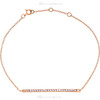 """(NEW) BELLA COUTURE ZOE Pave' Diamond 14K Rose Gold Bar Bracelet with Chain ~ Adjustable 8"""", 7.5"""", 7"""""""