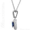 (NEW) Bella Couture Fine Sapphire & 3/8 CT Diamond 14k White Gold Earrings