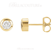 (NEW) Bella Couture Fine 1/3 CT Diamond 14k Yellow Gold Classic Stud Earrings