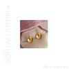 SALE PENDING! - (ANTIQUE) Rare Gorgeous Victorian Petite & Dainty Sea Shell and Gold Pearl 18K / 18CT Yellow Gold Dangle Drop (Back to Front) Lever Back Earrings