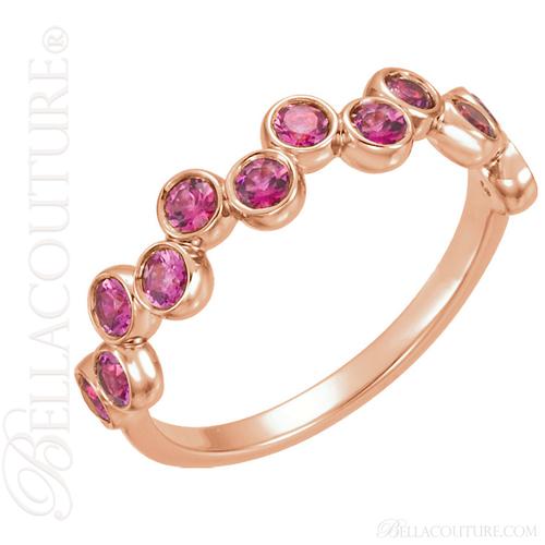 (NEW) BELLA COUTURE ® CASCADE  Fine Tourmaline 14K Rose Gold Ring