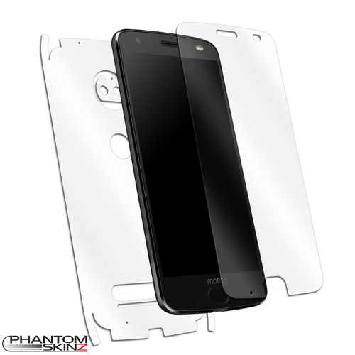 Moto Z2 Force Self-Healing Screen Protector and Full Body Skin by PhantomSkinz