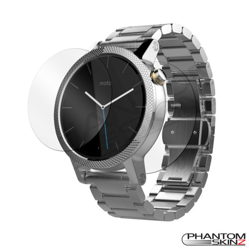 Moto 360 (2015) screen protection and full body skins by PhantomSkinz