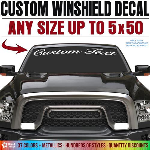Custom vinyl windshield decal image 1