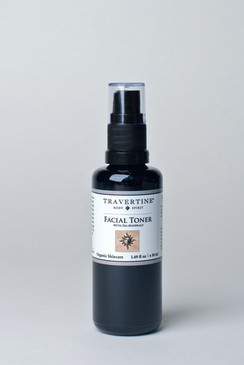 The facial toner incorporates sea minerals such as kelp to restore the skins pH balance and suppleness. It contains vitamins B, C, and E to protect from radiation and free radicals. It soothes irritated skin and reduces pore size.