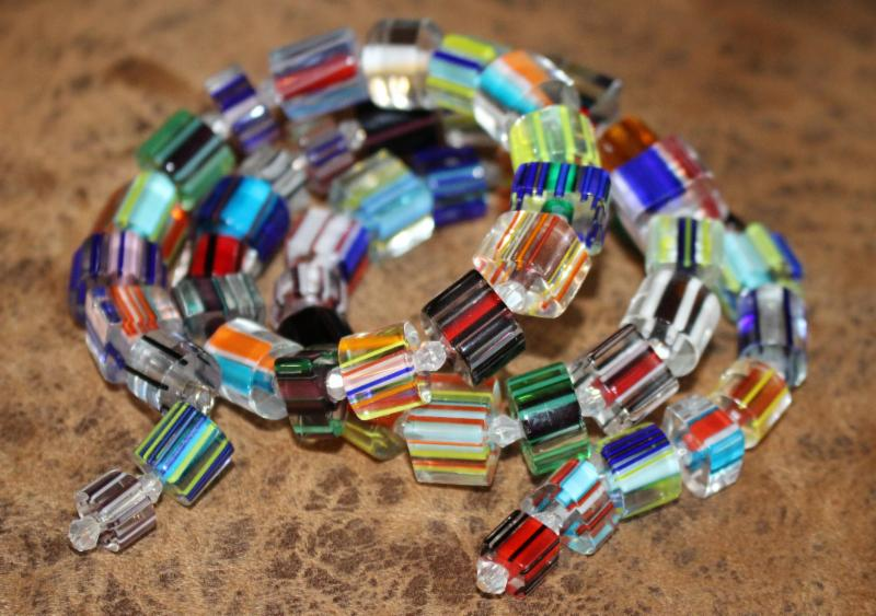 Cane Glass Beads - Happy Mango Beads