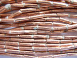 Copper Metal Tube Beads - Ethiopia (ME102)