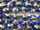 Cloisonne Beads - Cobalt Blue Teardrop 12mm (CS212)
