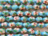Cloisonne Beads - Light Blue Egg 10mm (CS219)